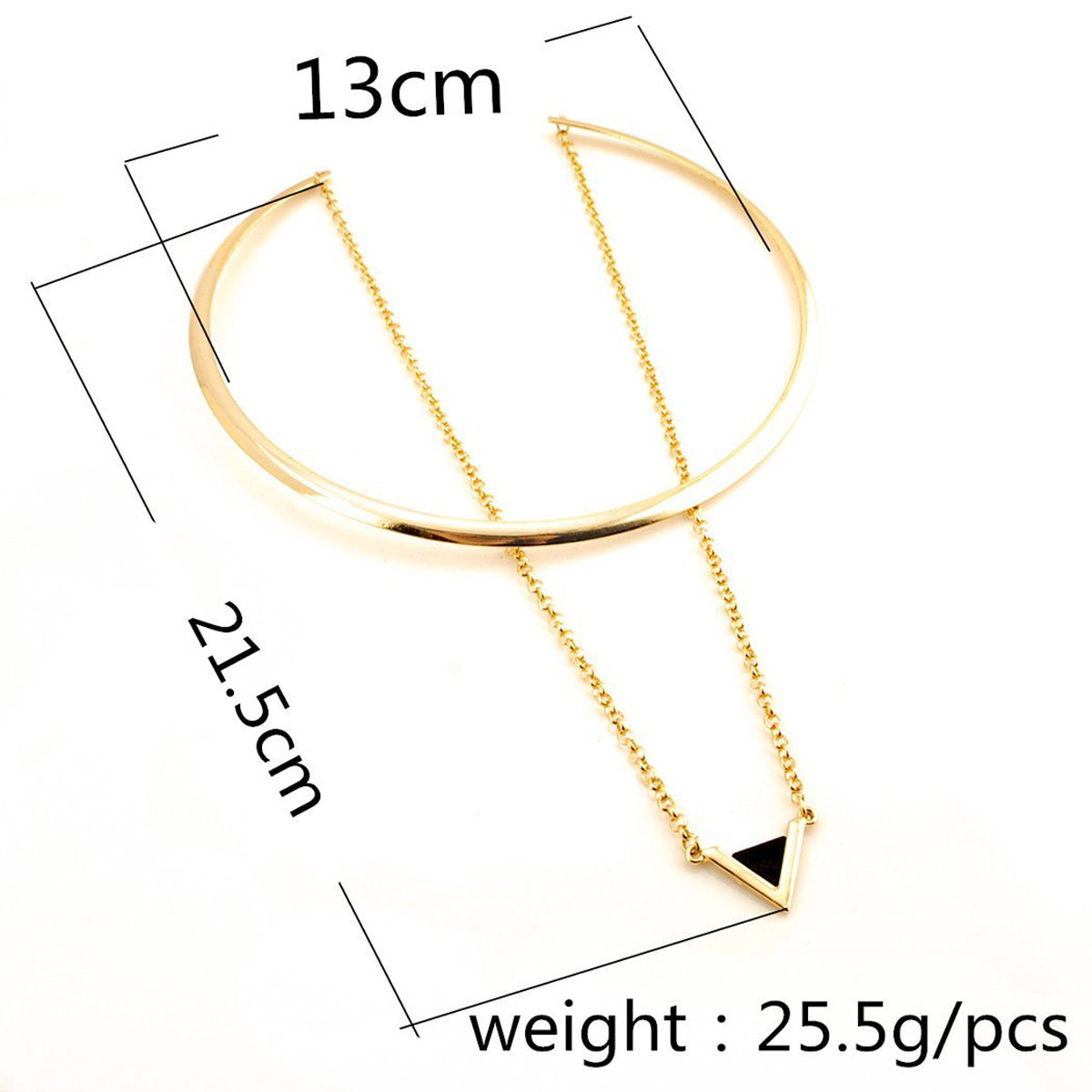 Pendant Triangle Annulus Necklace
