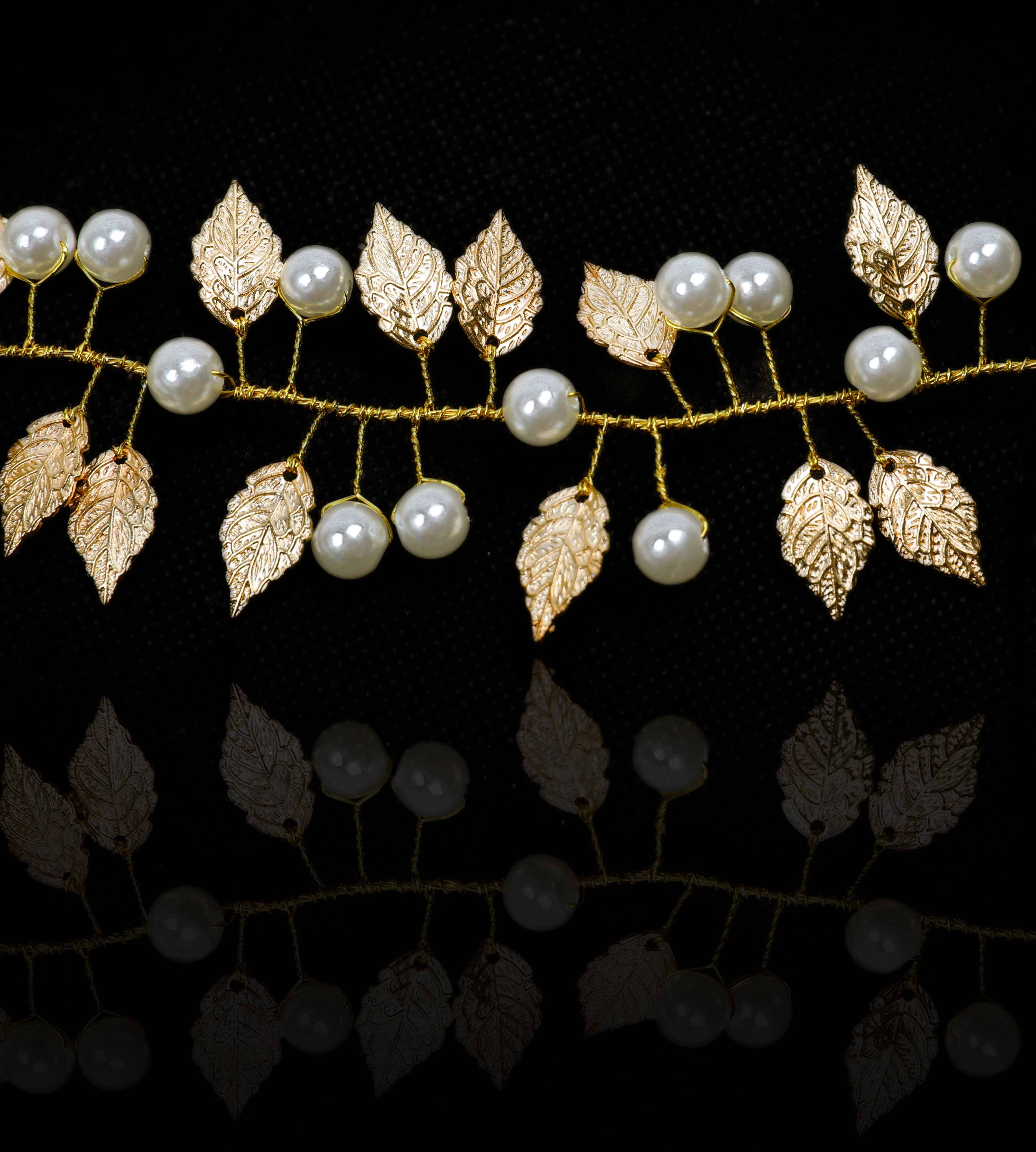 Wedding Hair Vine Headband Gold Leaves Leaf Hair Band Boho Flower Bridal Hair Accessories for Bride and Bridesmaid