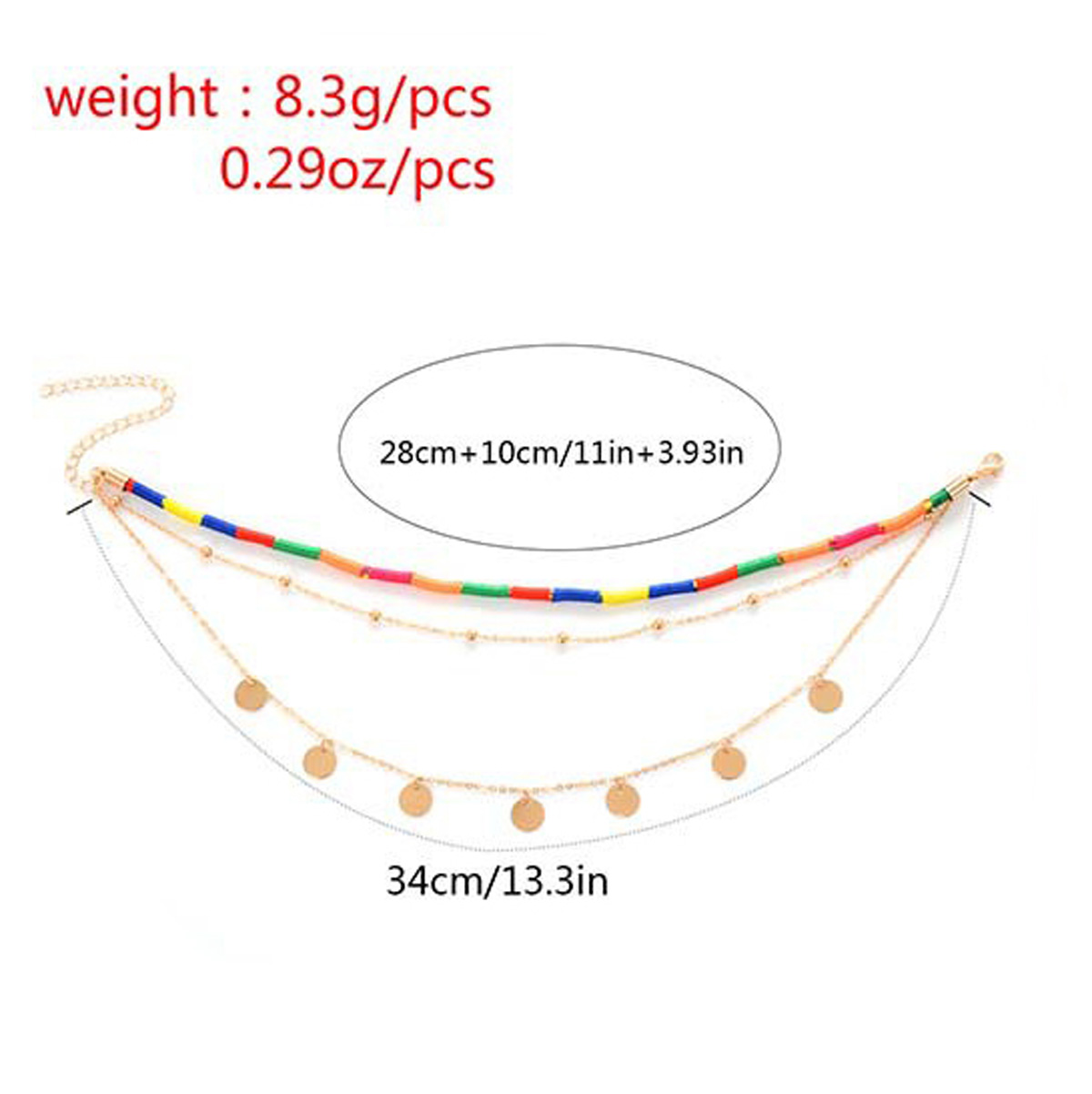 Multilayer Color Sequins Necklace