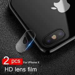 Back Camera Lens Protector for iPhone X,  (2PCS) 9H Hardness Anti-Scratch Explosion-proof Tempered Glass Protective Camera Lens Hard Protector Fi